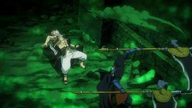 Natsu esquiva el ataque de Kama