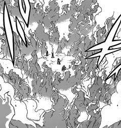 Invel congela las llamas de Natsu