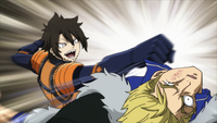 Laxus punched by Wahl