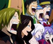 Fairy Tail celebrates their victory
