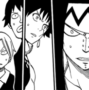 Max, Warren, Mest and Gajeel surprised about Fairy Heart