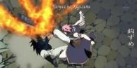 Natsu atakuje Gajeela szponem ognistego smoka