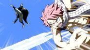 Natsu defeating Erigor