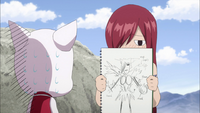 Erza's armor drawing