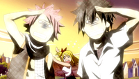 Natsu and Gray's reaction to Lucy's Garden