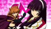 Kagura and Millianna ready for their battle