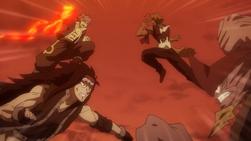 Natsu y Gajeel vs. Tempester y Torafuzar