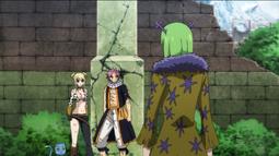 Brandish negocia con Lucy y Natsu