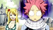 Natsu reaction when he saw behavior his counterpart