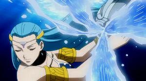 Aquarius's water attack