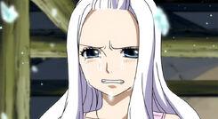 Mirajane llorando por la respuesta de Laxus