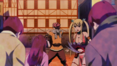 Zash rodea a Natsu y Lucy