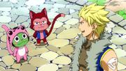 Lector y Frosch avisando a Sting