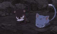 Happy y Lily sufren la maldición de Kyouka