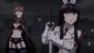 Kagura and Millianna in awe from the Dragons