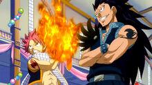 Natsu y Gajeel listos para pelear