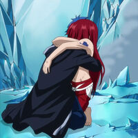 Jellal and Erza embrace