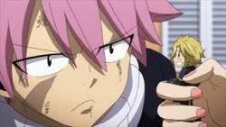 Natsu pide disculpa a Dimaria
