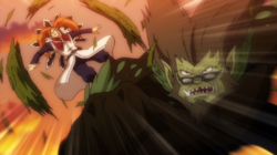 Wolfheim golpeando a God Serena