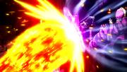 Erigor bloquea el ataque de Natsu