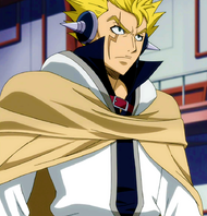 Laxus ready to fight with Hades