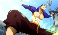 Bacchus' Fighting Stance