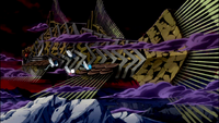 Exceeds flying near the Infinity Clock