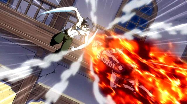 File:Gray and Natsu clash.jpg