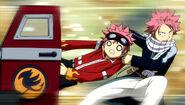 Natsu pulls Edo Natsu