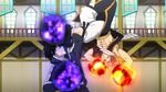 Natsu y Zeref pelean usando Magia
