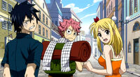 Gray Natsu and Lucy's reaction to punishment