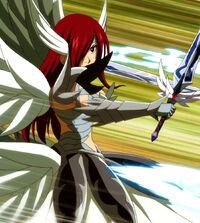 Erza against Meredy's blades