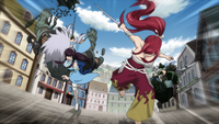 Erza and Kagura push through