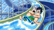 Gray and Lyon at the slide