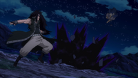 Kareem chases after Gajeel