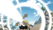 Larcade struck by Holy Nova