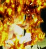 Natsu en llamas