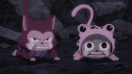 Frosch begs for Erza's sake