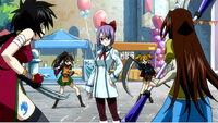 Laki fights four girls