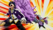 Nullpunding Ataca a Gray Anime
