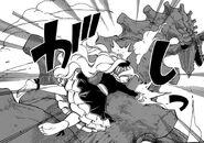 Mavis jumping on Yuri's back