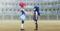Chelia y Wendy se dan la mano