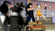 Gajeel holds Levy