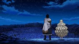 Zeref y Mavis observan desde la montaña