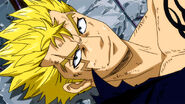Beaten Laxus' smile