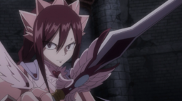 Erza Dispuesta a Derrotar a Kyouka