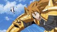 Eclipse Leo sending Natsu flying