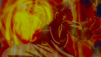 Natsu powered up by Atlas Flame