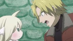 Yuri le exige a Mavis que lo deje acabar
