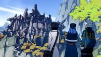 Gray, Lyon and Juvia reached the ruins
